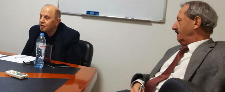 RPG prominenten Levan Berdzenisjvili en Vakhtang Khmaladze.