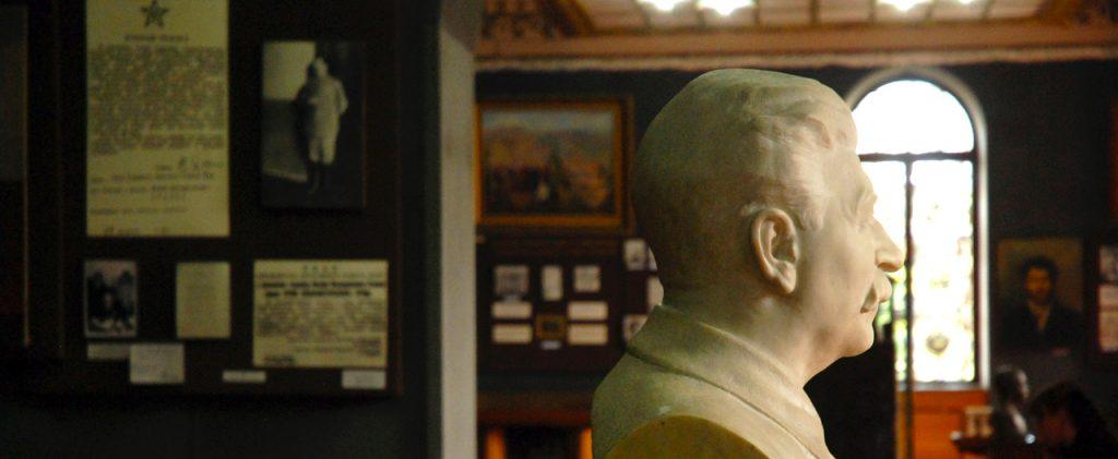 Stalin geëerd in zijn eigen museum in geboorteplaats Gori.